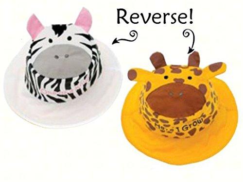 Zebra/Giraffe Reversible Kids' Hat Medium