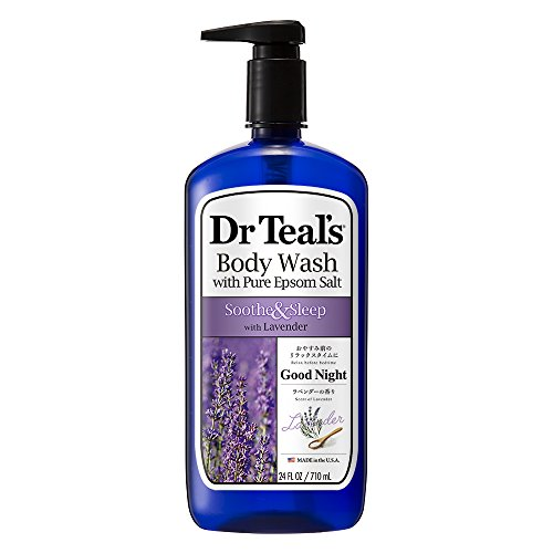 Dr Teal's Pure Epsom Salt Body Wash Soother & Moisturize With Lavender 24 Ounce