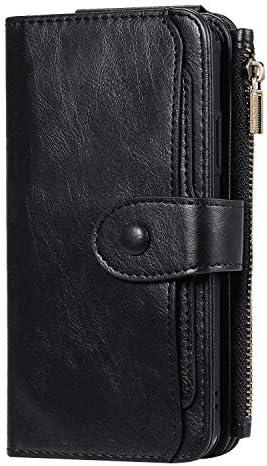 Samsung Galaxy ノート Note10 レザー ケース, 手帳型 サムスン ギャラクシー ノート Note10 本革 財布 携帯カバー 全面保護 ビジネス カバー収納 無料付スマホ防水ポーチIPX8