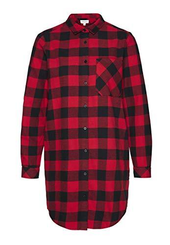 aus Hemdkleid GOTS Big Check Christine armedangels Baumwolle Black Bio 08 Damen CERES Red Organic dynasty wqxE4Ufp