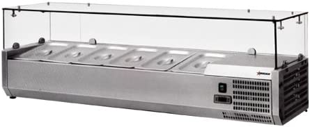 OMCAN 39595 RS-CN-0009-P 79 Topping Rail Refrigerated Pizza Prep Table Top