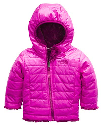 The North Face Kids Baby Girl's Reversible Mossbud Swirl Hoodie (Infant) Azalea Pink/Dramatic Plum 6-12 Months