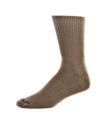KENTWOOL 19th Hole Collection Solid Sock (Khaki, Large)