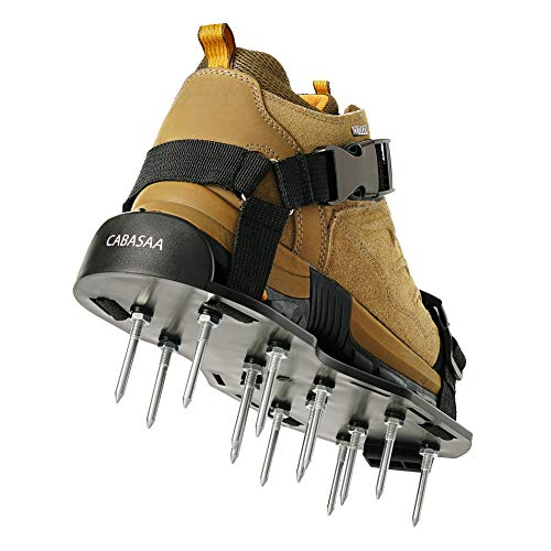 CABASAA Lawn Aerator Shoes Heavy Duty Sandals with Spikes - Metal Buckles