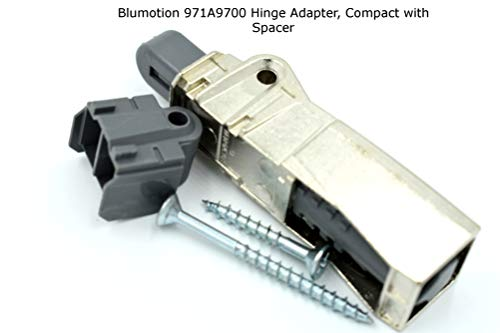 Blumotion 971A9700 Hinge Adapter, Compact with Spacer, 5 - Hardware Plastic Cabinet