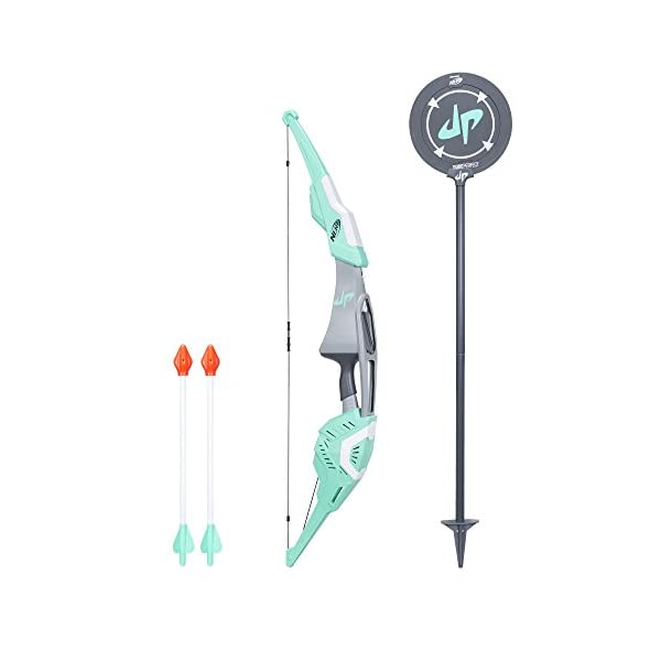 Dude-Perfect-Signature-Bow-Nerf-Sports-Biggest-Nerf-Bow-with-2-Nerf-Whistling-Arrows-For-Kids-Teens-and-Adults-Amazon-Exclusive