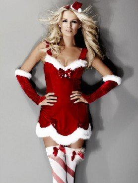 EX ANN SUMMERS SEXY MISS CLAUS COSTUME size 12: Amazon.co.uk: Clothing