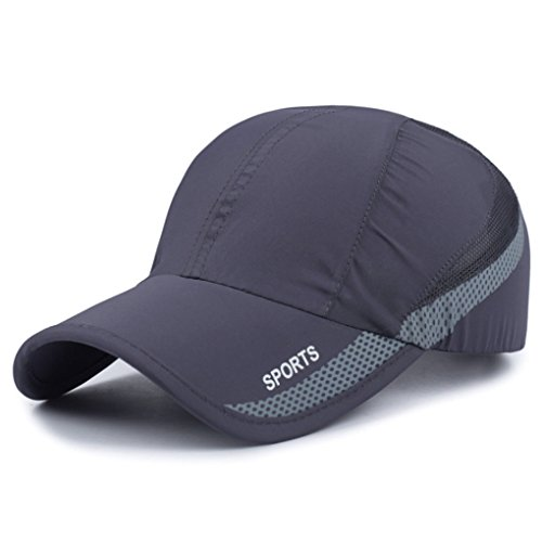 Man Overboard Light (New High Quality UV Quick-drying Waterproof Light Shade Baseball Cap Outdoor Hats, free size, Gray)