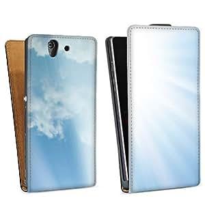 Diseño para Sony Xperia Z L36h DesignTasche Downflip black - Rising Sun
