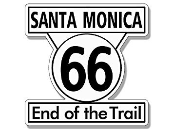 GHaynes Distributing Magnet Santa Monica END of The Trail Route 66 Sign Shaped Magnet- Highway sm 4 x 4 inch