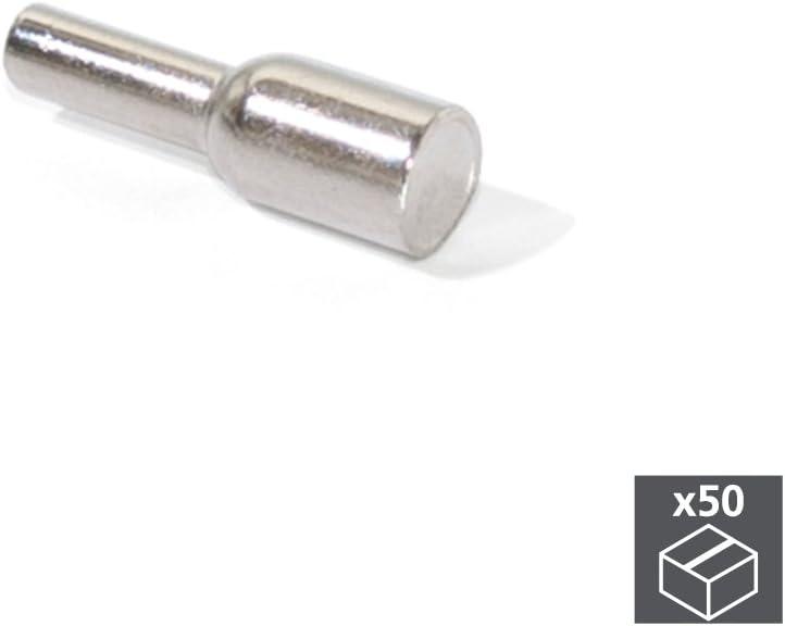 Lote de 50 Portaestantes tubular 623 Emuca D.3mm para madera: Amazon.es: Bricolaje y herramientas