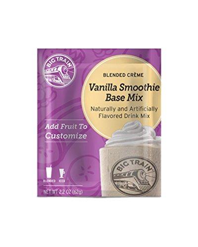 Vanilla Smoothie Base - Big Train Blended Creme Mix, Vanilla Smoothie Base, 25 Count