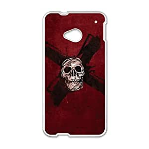 HTC One M7 Cell Phone Case White Zombie X Fwhpr