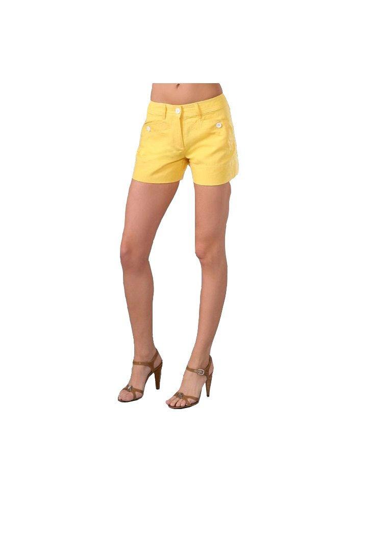 See By Chloé Button Pocket Shorts, Yellow, 0