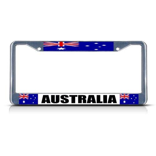 Australia Flag License Plate - Fastasticdeals Australia Australian Flag Chrome Heavy Duty Metal License Plate Frame