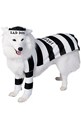 Rubie's Pet Costume, Prisoner, (Criminal Dog Costume)