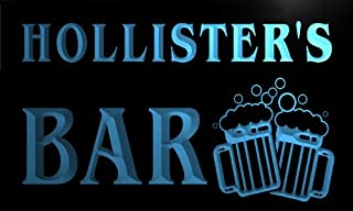 Cartel Luminoso w005675-b HOLLISTER Name Home Bar Pub Beer Mugs Cheers Neon Light Sign