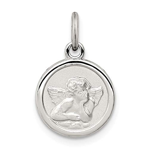 925 Sterling Silver Angel Medal Pendant Charm Necklace Religious Fine Jewelry Gifts For Women For Her