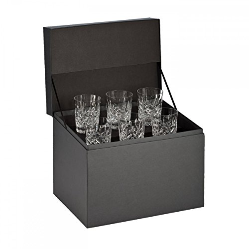 Glass Pilsner Lismore - Waterford Lismore Double Old Fashioned Glasses, Deluxe Gift Box Set of 6 DOF Glasses
