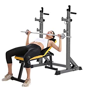 Boddenly Adjustable Barbell Rack Weight Lifting Bench Press Squat Rack Pull Up Bar Suitable for Home Fitness/Gym Equipment Purchase