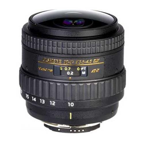 Tokina 10-17mm F/3.5-4.5 DX Autofocus Fisheye Zoom Lens for Canon EOS Digital SLR Cameras Without Hood by Tokina