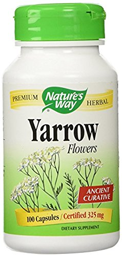 Nature's Way Yarrow Flowers 325 mg Ancient Curative Dietary Supplement (100 Capsules)
