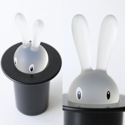 Alessi ASG16 B''Magic Bunny'' Toothpick Holder, Black by Alessi (Image #2)