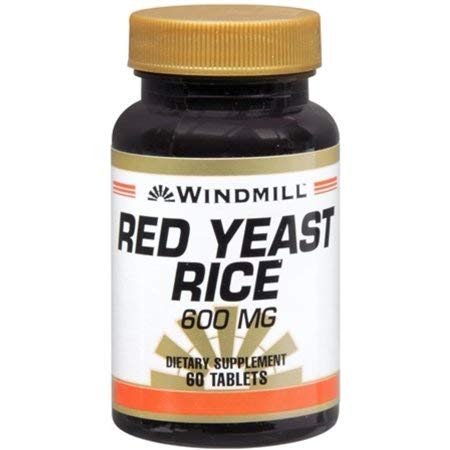 Windmill Red Yeast Rice 600 mg Tablets 60 Tablets (Pack of 9)