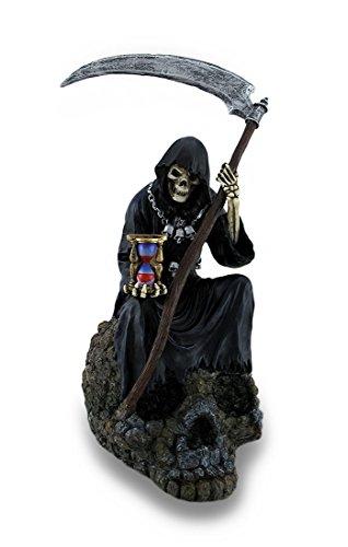 9.62 Inch Poly Stone Myth-Grim Reaper on Skull Figurine Statue