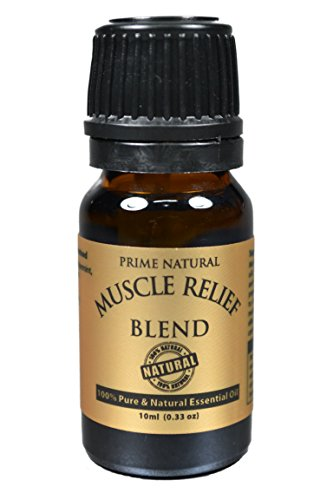 Muscle Relief Essential Oil Blend 10ml - 100% Natural Pure Undiluted Therapeutic Grade for Aromatherapy Massage Scents & Diffuser - Relieves Muscle Pain, Spasms, Stiffness, Backache, Sore - Oil Deep Tissue