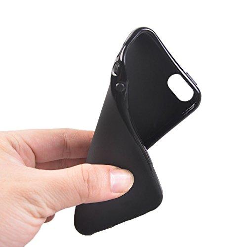 COOLKE Gel TPU Silicone Soft Schutzschale hülle Case Cover für Apple iPhone SE / 5S / 5 - Schwarz