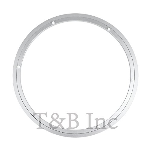 TamBee 450mm Lazy Susan 18 Inch Aluminum Bearing Metal Rotating Turntable Bearings Swivel Plate Hardware for Dining-Table