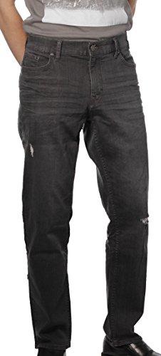 Calvin Klein Men's Slim Straight Pant, Destructed Grey, 32W x 30L