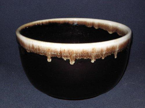 Large Vintage Pfaltzgraff Stoneware - Mirror Brown Drip Batter Mixing Bowl