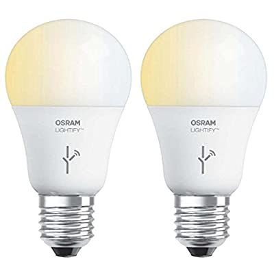 Sylvania Osram Lightify 60 Watt A19 Tunable Smart Home LED Light Bulb (2 Pack)