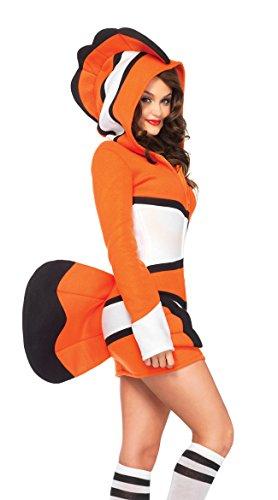 Leg Avenue Cozy Orange Fish Costume, Clownfish Costume -