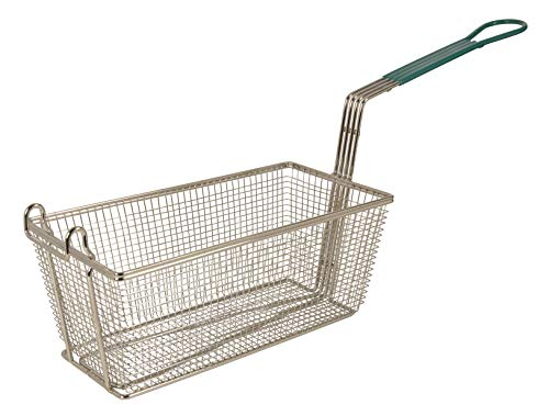"Update International (FB-126PH) 12 7/8 x 6 1/2"" Rectangular Wire Fry Basket"