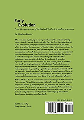 Early Evolution: From the appearance of the first cell to the first modern organisms