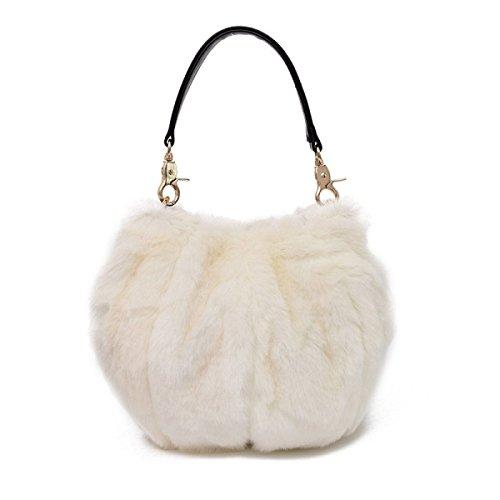 Bolso De Cubo Personalizado Para Mujer Bolso De Felpa White