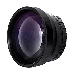 Optics 2.0x High Definition Telephoto Conversion Lens for Panasonic Lumix DMC-FZ28 (Includes Lens Adapter)