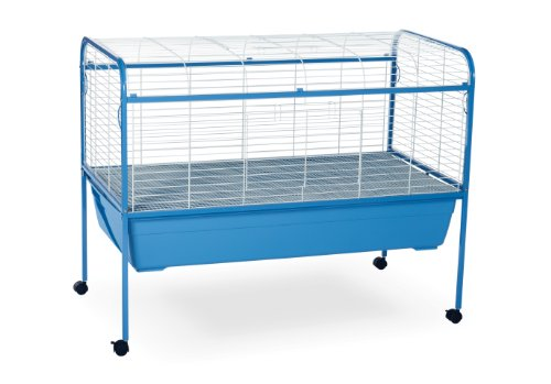 Prevue Pet Products Small Animal Cage with Stand 620 Powder Blue and White, 47-Inch by 22-Inch by 37-Inch
