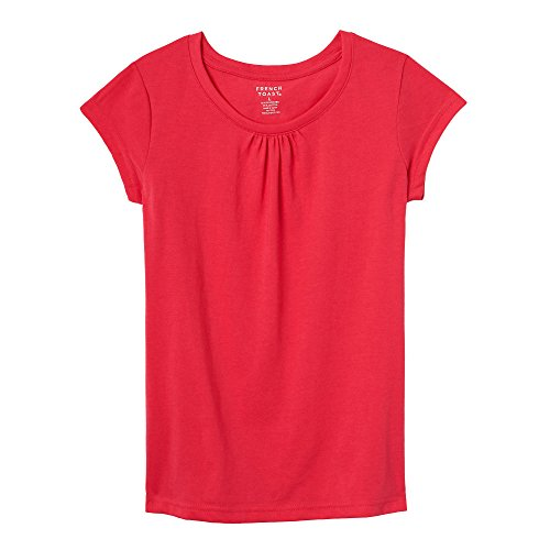 French Toast Big Girls Short Sleeve Crewneck Tee, Fuchsia Burst, (Burst Tee T-shirts)