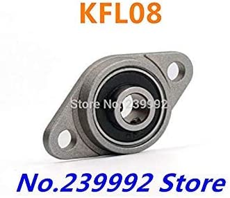DORLIONA Wholesale of 4 pcs 8 mm Diameter zinc Alloy Bearing housings KFL08 Flange Bearing housings with Pillow Block