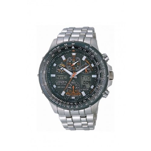 Citizen JY0080-62E - Reloj analógico y digital de cuarzo para hombre con correa de titanio, color plateado: Amazon.es: Relojes