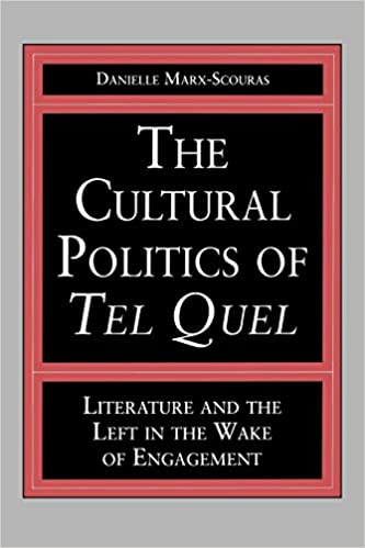 Amazon com: The Cultural Politics of Tel Quel: Literature and the