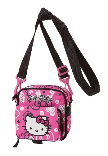 Hello Kitty bolso bandolera w/integrado tipo Cartera - ornamentado: Amazon.es: Juguetes y juegos