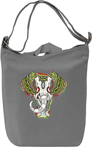 Ethnic Elephant Borsa Giornaliera Canvas Canvas Day Bag| 100% Premium Cotton Canvas| DTG Printing|