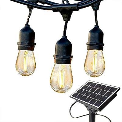 Riteryif Solar Outdoor String Lights 27FT and 48FT Commercial Grade Outdoor Lighting for Garden Christmas