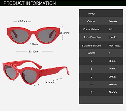 Zygeo Dames de Amarillo Vintage zonnebril Gafas Mujer AT9246 Rosa Negro Gafas Rojo Blanco de C7 C4 Blanco Ojo de Las Gato Blanco Retro Sol rarxn