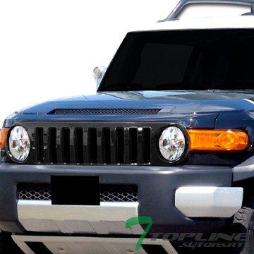 (Topline Autopart Black Vertical Front Hood Bumper Grill Grille Cover ABS 07-14 Toyota FJ)